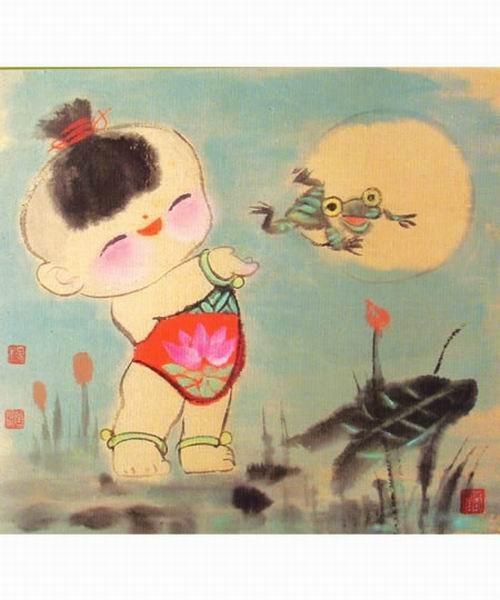 """""""中国娃娃系列""""融入了中国画的笔墨元素,及民间艺术的夸张艺术造型,并"""