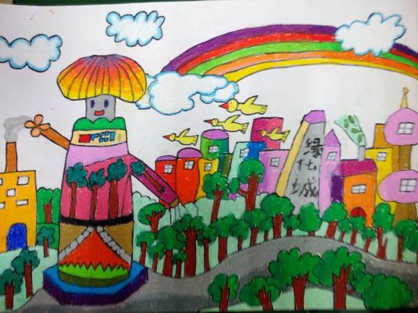 科学幻想绘画是我校第三届科技节的重要组成部分.科学幻想绘画是指图片