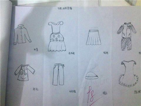 手绘线条图像---服装设计