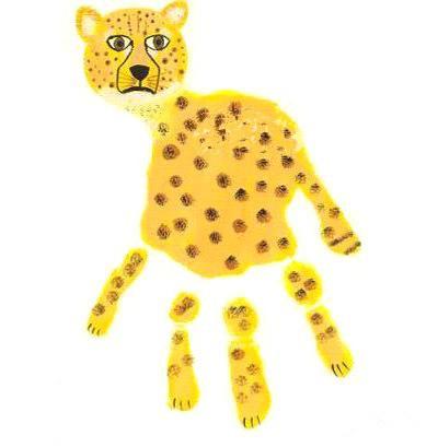 幼儿园手指画动物